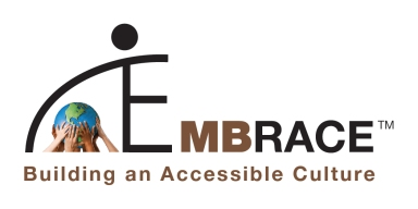 EMBRACE Logo with Tag Line: Building an Accessible Culture