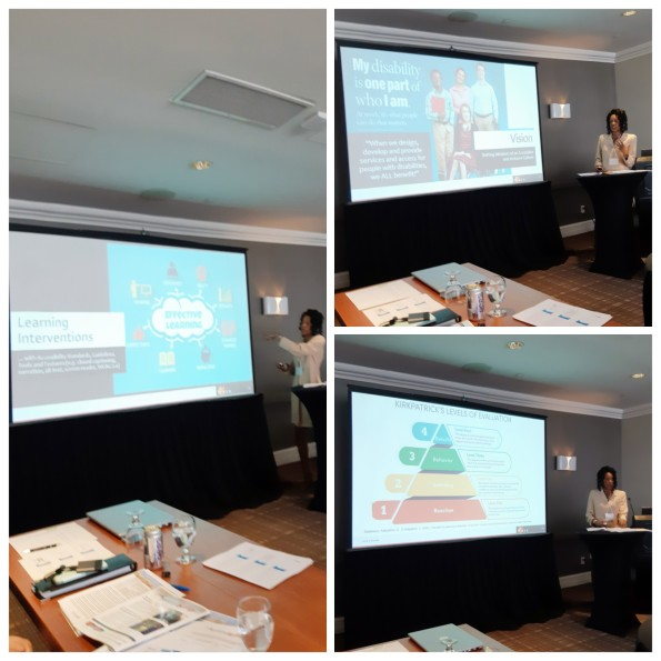 Me Presenting the National Training Strategy ta the 24th Supported Employment Conference of June 2019 in Montreal, Quebec.