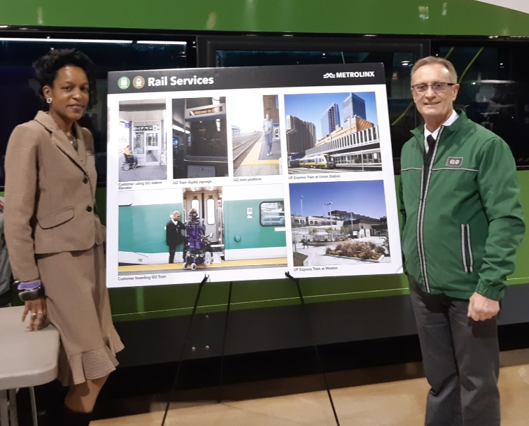 Me standing at the Metrolinx Booth at the 2019 Abilities Expo Conference