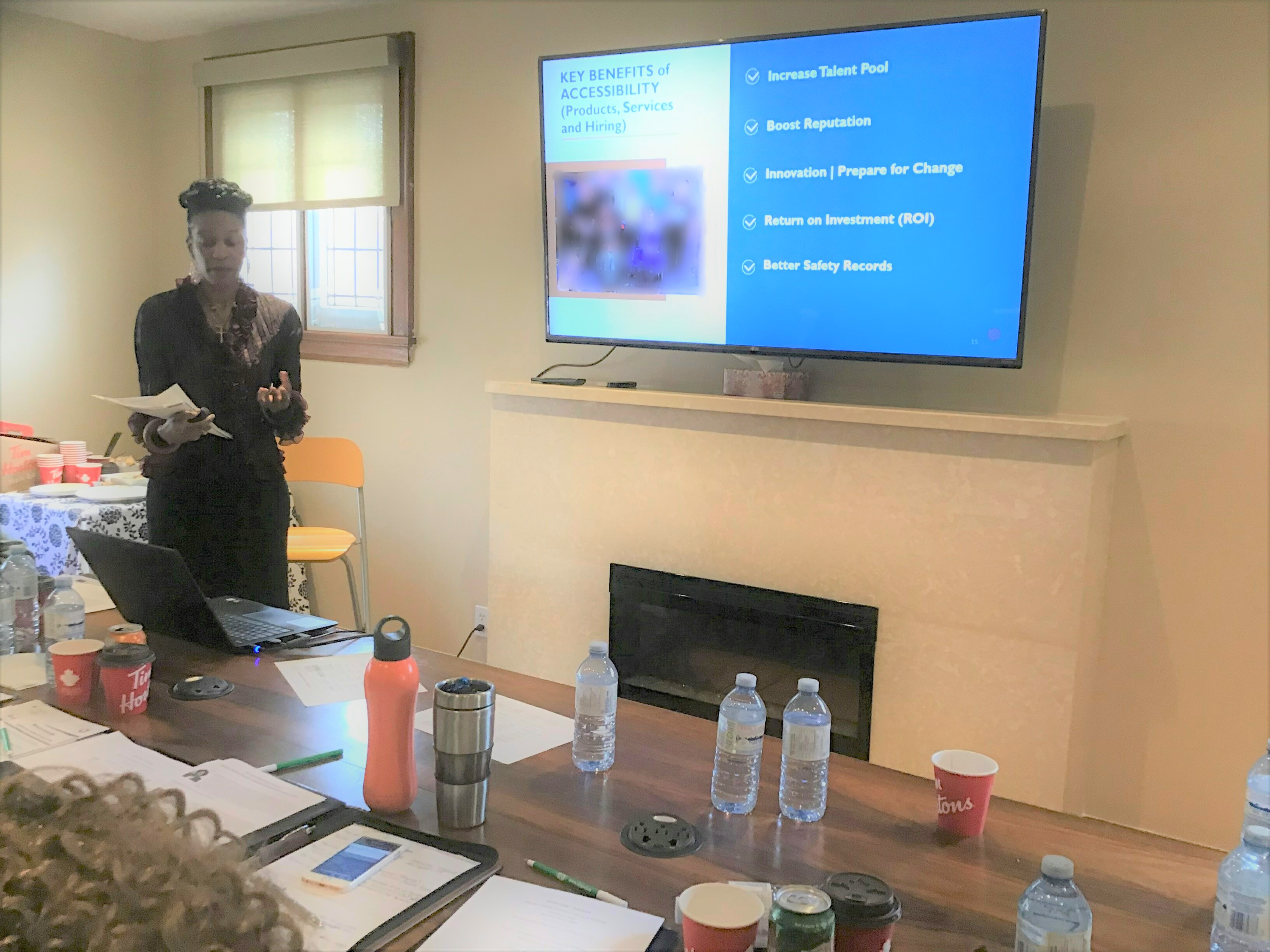 Image of Michelle Buckland providing training at a workshop