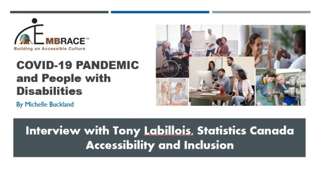 TITLE PAGE of Interview with Tony Lalillois - Statistics Canada