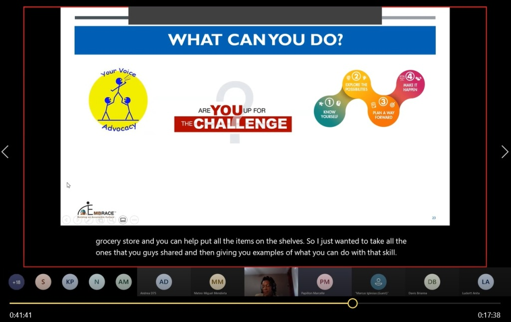 """The """"What Can You Do?"""" slide displayed while having a discussion with students to provide potential jobs or careers once the student share their top skills."""
